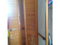 2 x double pine louvre doors