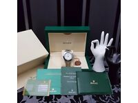 New Silver Rolex daytona With White Face Comes Rolex Bagged And Boxed With Paperwork