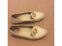Gucci shoes, white, leather, size 37.5