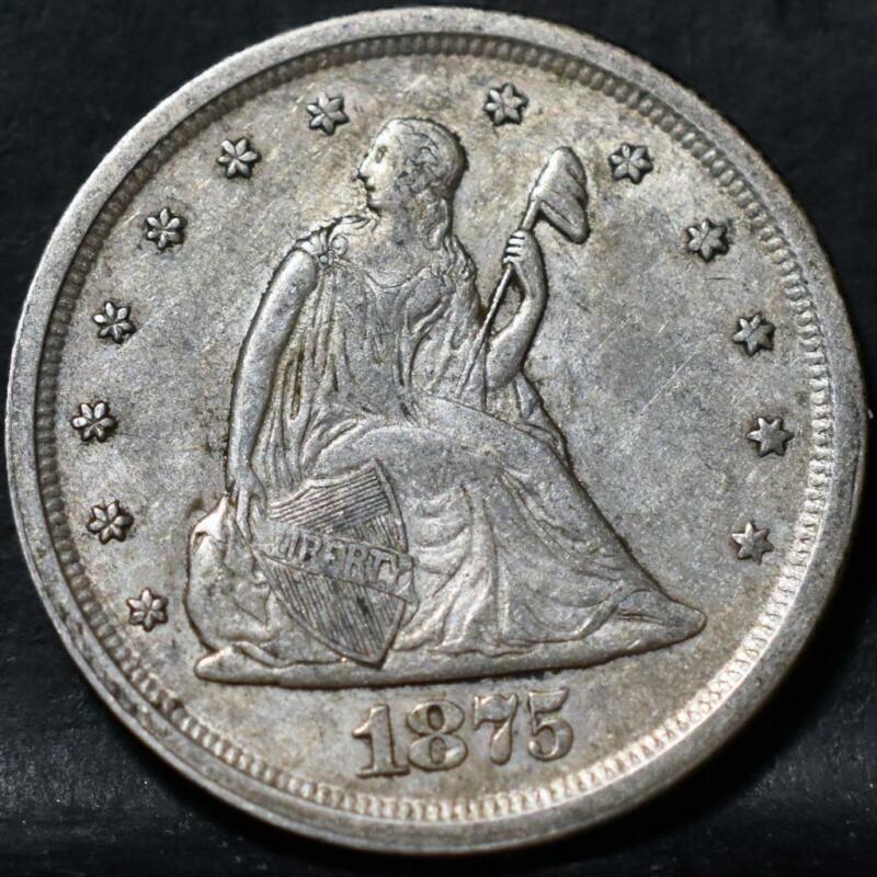 1875-S LIBERTY SEATED 20C TWENTY CENT ID#HH658