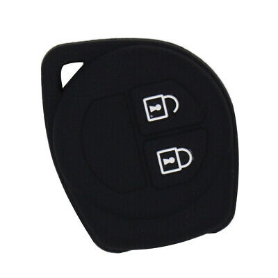 Perfeclan Smart Remote Key Case Soft Silicone Cover for Suzuki Black
