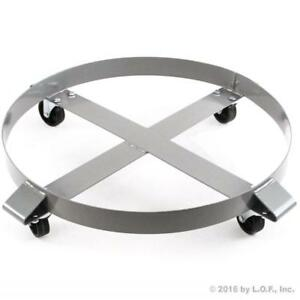 Drum Dolly 1000 lb 55 Gal w Swivel Casters Heavy Duty Steel Frame Non Tipping - BRAND NEW - FREE SHIPPING