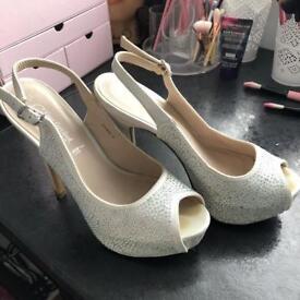 Sling Back Diamanté High Heels