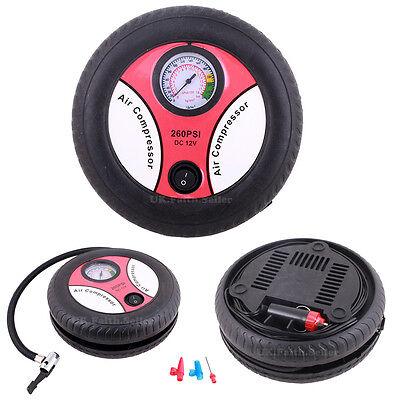 DC12V 260PSI Tyre Tire Inflator Mini Air Compressor Pump Car/Van/Motorcycle/Bike