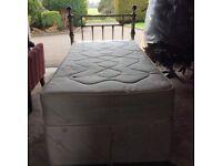 Silent night single base plus mattress £75 Ono