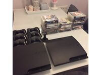 2xPlaystations 3 500gb,33 games,6 controllers £200 ono
