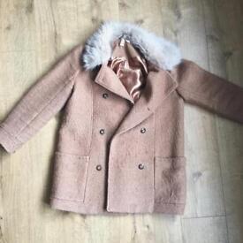 Women's Camel Coat - Size 14
