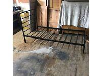 single bed frame black metal