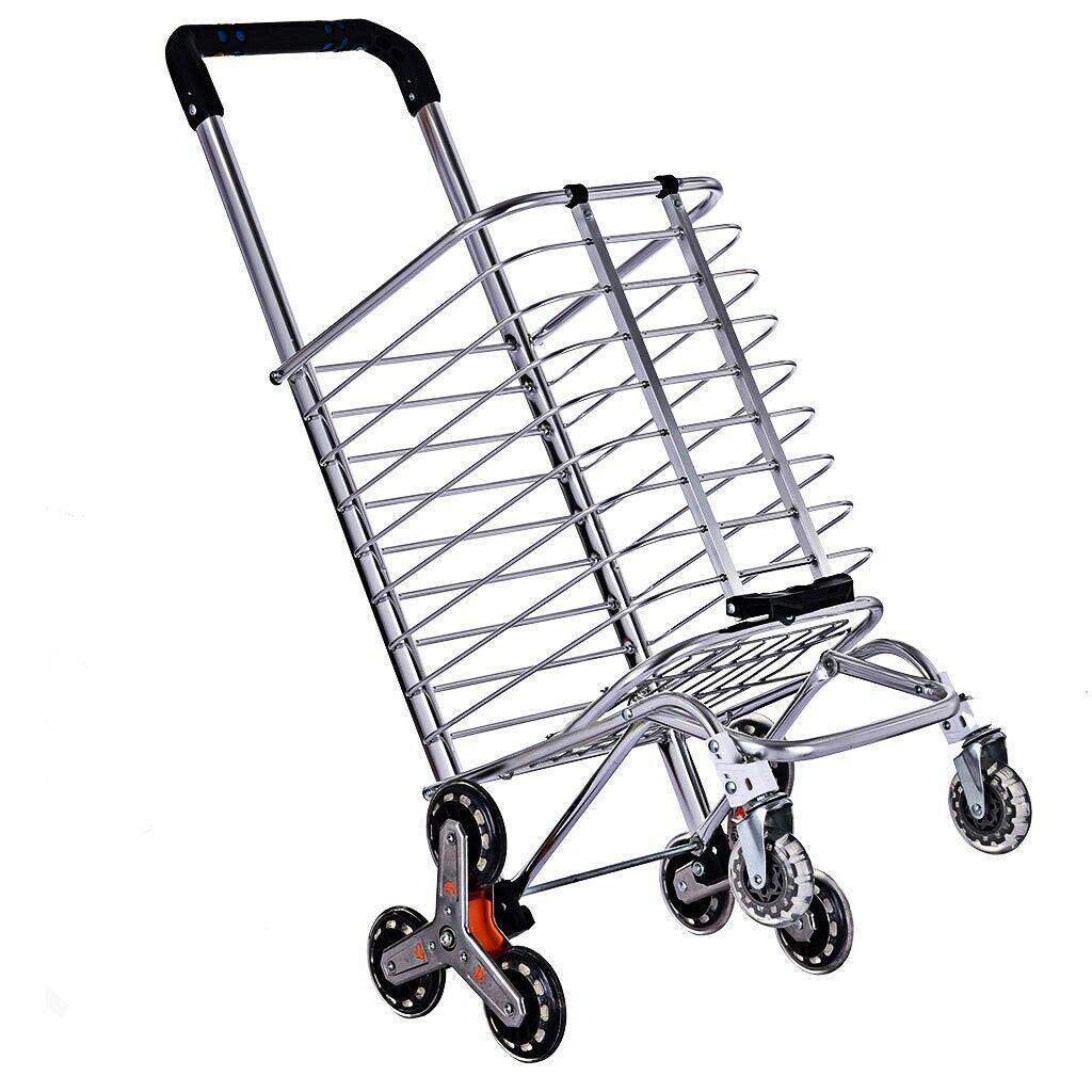 Heavy Duty Stair Climber Hand Truck Dolly Cart Trolley w/ Ba