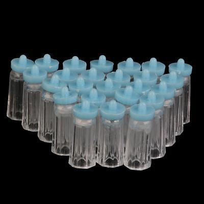 24pcs Baby Boy Mini Bottles BLUE Baby Shower Party Favor Gift Decoration