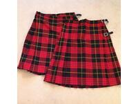 Portsmouth Grammar School Skirts X 2