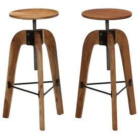 Bar Chairs 2 pcs Solid Acacia Wood-246018