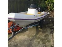 13ft plastic rib 'Riot' with 25hp immaculate evinrude..Downpatrick..£1350 Ono Downpatrick