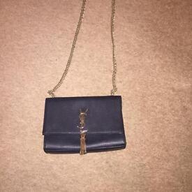 Ladies Black ysl tassel handbag