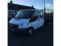 2010 Ford Transit Crewcab Tipper c/w Tail Lift Genuine Low Miles