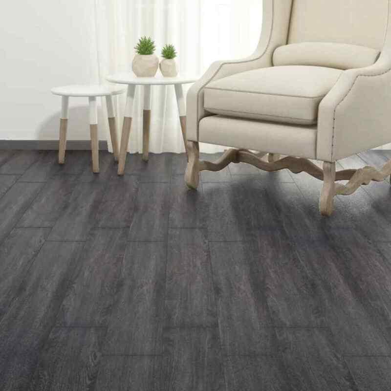 36piece Self-adhesive PVC Flooring Planks 5.02m² 2mm Black and White Floor Tile