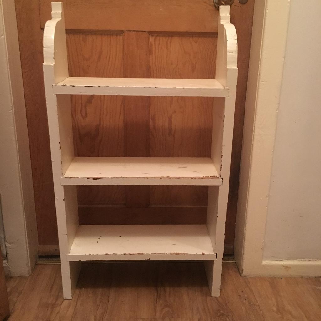 White shabby chic wall shelf