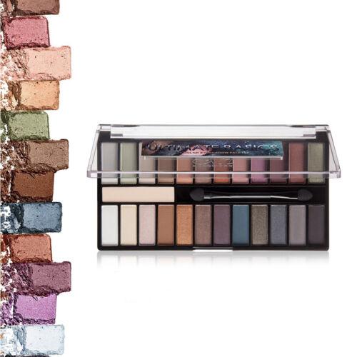 24 Farben Lidschatten Make up Palette mit Spiegel & Pinsel, Schimmer + Matt