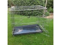 Medium Dog Animal Crate Cage Folds flat 54x76x64cm