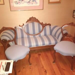 Antique settee and 2 chairs
