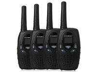 NEW SEALED FLOUREON WALKIE TALKIES 4-PACK (3KM LONG DISTANCE RANGE)