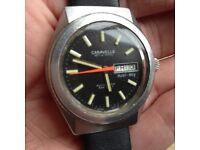 Caravelle by Bulova Vintage 70s Divers Watch Eta 2472