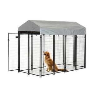 NEW OUTDOOR DOG KENNEL 4X8X6 FT DOG HOUSE WK410