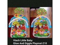 Vtech Little Baby Glow And Giggle Playmat Gym