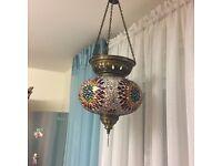 Turkish Moroccan mosaic hanging lamp