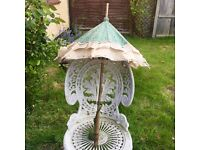 """antique silk victorian """"the peerless"""" parasol, weddings/gothic events/distressed"""