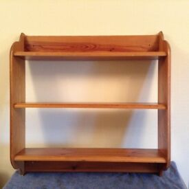Solid pine book shelf. Excellent condition.