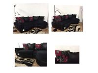 New joelle black corner sofa**Free delivery**