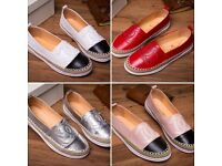 Chanel leather espadrilles in various colours & sizes.