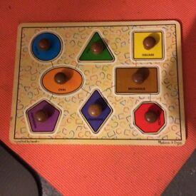 Melissa and Dough shape puzzle