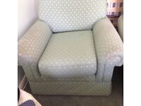 Pair of fabric Comfy arm chairs
