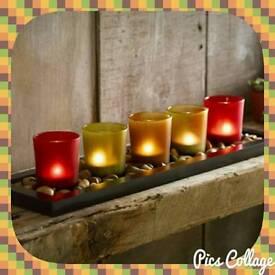 Jewel Tone Candle Set 🕯