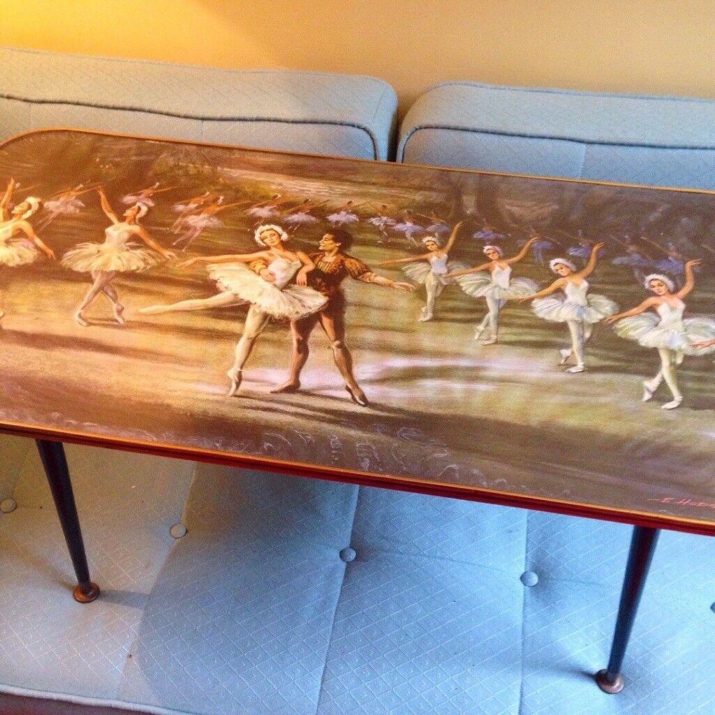 vintage retro kitsch ballerina coffee table in heaton