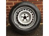 Vw transporter Volkswagon T5 wheels and tyre