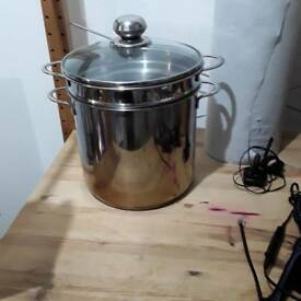 Pasta steamer pot stainless steel