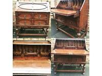 Antique stunning oak bureau