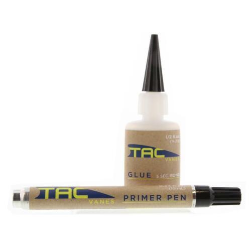 Tac Vanes Fletching Kit - .5 oz Glue & .34oz Primer Pen