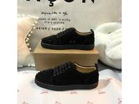 Christian Louboutin low sneakers black suede spiked all sizes