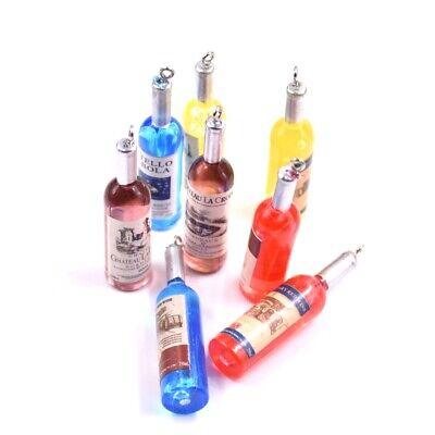 5PC 3D Wine Bottle Resin Charm Pendant For DIY Bracelet/Necklace/Keyring - Wine Bottle Jewelry