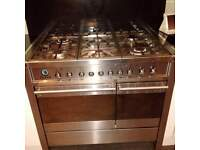 smeg freestanding stainless steel cooker and oven