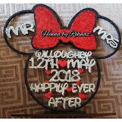 Disney Mouse Head wedding sign, disney theme,wedding,couple stand, disney - Disney Wedding Centerpieces
