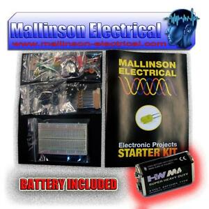 Electronic-Projects-Components-Kit-Pack-Beginners-Set-with-Battery-and-Booklet