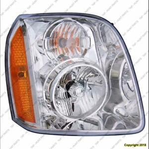 Head Light Passenger Side Exclude Denali High Quality GMC Yukon 2007-2014