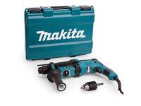 *NEW* Makita HR2630X7 SDS+ Rotary Hammer Drill 3 Mode 26mm + Keyless Chuck with SDS Adapter 110V