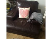 Comfy leather armchair