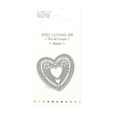 Trimcraft Simply Creative Mini Metal Paper Card Craft Die Set - Heart